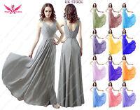 Chiffon Long Shoulder Straps V-neck A-line Lace Back Wedding Bridesmaid Dresses