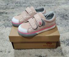 See Kai Run Basics Toddler Girl Shoes Size 10 Morgan Sneaker Pink Polka Dots NIB
