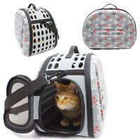 Pet Cat Puppy Portable Foldable Shoulder Bag Cage Kennel Dog Carrier Travel Tote