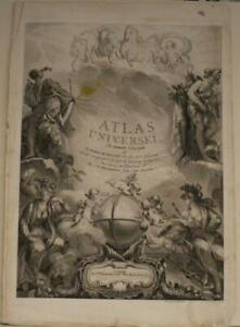 1822 DELAMARCHE & DIEN LARGE ANTIQUE COPPER ENGRAVED FIGURATE TITLE PAGE