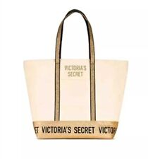 VICTORIA'S SECRET LIMITED EDITION GOLD SPARKLE CARRYALL TOTE BAG 2018 NWT
