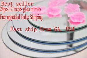 "12 pcs 12"" Round Centerpiece Mirrors Table Mirrors Decorating Mirrors (GA, USA)"