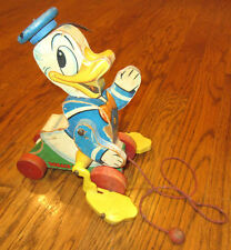 Vintage Fisher Price Donald Duck pull toy - #765