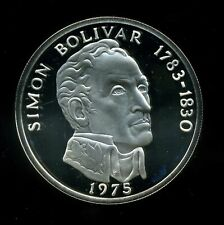Panama 1975 20 Balboas Proof Sterling Silver in Capsule with Box and COA