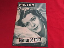 MON FILM  Magazine inc Lisette LANVIN & Glenn LANGAN   26/01/1949  No 127