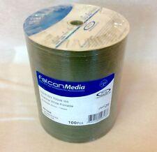 100 FTI Falcon Media CD-R 80m Min 700mb White Everest Thermal Printable Disc