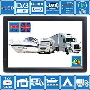 "MOTORHOME CARAVAN BOAT KITCHEN 14"" Inch 12V & 240V LCD TV Freeview HD USB &PVR"