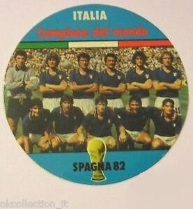 ADESIVO ORIGINALE anni '80 _ ITALIA CAMPIONE MONDO 1982 SQUADRA Calcio (cm 9)