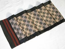 New 2-Ply Men 100% Silk Oblong Scarf Black Ivory Burgundy