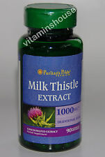 Milk Thistle Silymarin 1000 mg 4:1 Extract 90 Softgels Made in USA  Unopened
