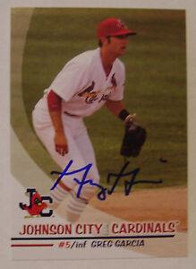 Greg Garcia autograph 2010 Johnson City Cardinals card