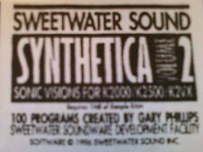 Kurzweil ~ New Old Stock ~ SYNTHETICA vol.2 ~ V.A.S.T.KRZ Programs!!!