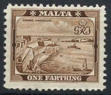 Malta 1938-43 SG#217, 1/4d Brown KGVI Definitive MNH #D10817