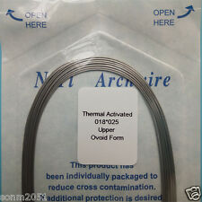 Dental Arch Wires Orthodontic Thermal Activated Niti Rect angular 18*25 Upper