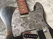 Silver Paisley Custom Bakelite Pickguard Fender® Telecaster® Tele® style 5 hole