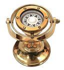 Brass Marine Gimbaled Ship Compass 5' Desk Stand Navigational Nautical Decor