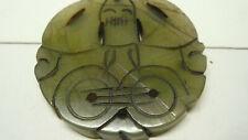 Rare Translucent Jade Pre Colombian  Mayan Pendant  2'' Diameter