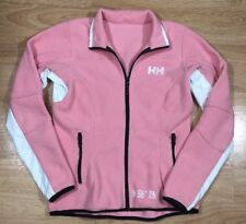 HELLY HANSEN Fleece Jacket Womens Size Small Full Zip Pink And White