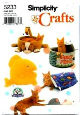 Cat Bed Patterns Simplicity Crafts 5233 Beds Fish Pillow Mice Uncut