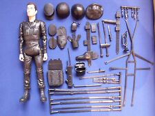 "Marx Stony Soldier Best of the West Botw Recast Black 12"" With 24 Accesories"