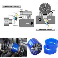 Car Metal Air Intake Fuel Saver Single Propeller Fan Supercharger Turbo
