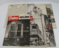 Trains The Magazine Of Railroading Lot Of 7 1965
