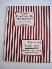 "1911 ""Herzfelder and Son"" Catalog  ""The Reliable Mail Order House"" - Jewelry *"