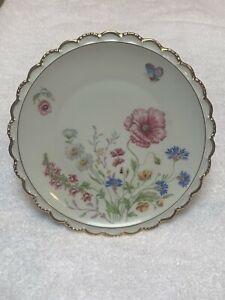 "Rare WIG1391 by Winterling Bavaria 8"" Salad Plate Floral Spray with Butterfly"