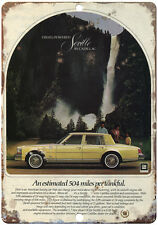 "Cadillac Seville Yellow 10"" x 7"" Reproduction Metal Sign"