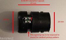 KAM RT1 Dynamic Mic Capsule, Clear Highs & Deep Lows