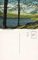 1980's WINTER SCENE LAKE CONISTON CUMBRIA LAKE DISTRICT UNUSED COLOUR POSTCARD