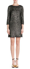 Zadig & Voltaire Sequin Rousse Black Gold Deluxe Multi Dress NWT SZ M $610