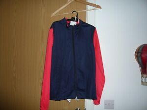 boys decathlon store track suite size 14-15 years red blue