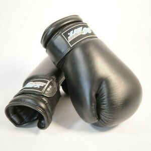 30 Minute Hit Boxing Gloves 10oz - Black - In bag - With Wrist Straps