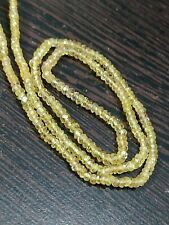 """16"""" yellow Sapphire Natural gemstone 3 mm Faceted rondelle loose beads strand"""