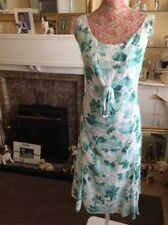 Per Una Green/white Broderie Anglaise Dress Size 18 Ec Post Daily Holiday 11/9