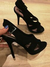 Fab Ladies Genuine Suede FRENCH CONNECTION UKSize 3 Heels Sandals Slingback .