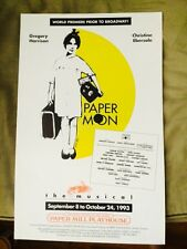 PAPER MOON Window Card Poster Pre-Broadway CHRISTINE EBERSOLE GREGORY HARRISON