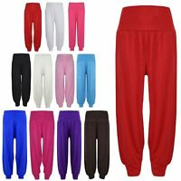 Kids Girls Ali Baba Style Plain Color Fashion Stylish Trendy Trouser 2-13 Years