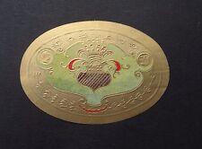 Ancienne étiquette BOITE DE CIGARE couronne crown old box cigar label
