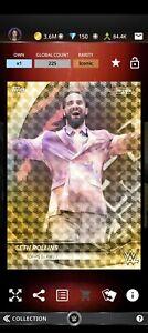 Topps WWE SLAM Digital 2021 Bowman's Best Gold Refractor Seth Rollins 225CC