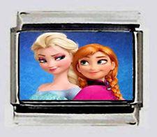 Frozen Anna Elsa Disney's movie Italian Photo 9mm charm for Modular Bracelets