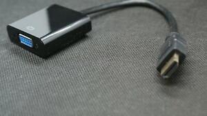 HDMI auf VGA Adapter D-Sub 15-polig Konverter Full HD 1080p Adapter VGA Buchse