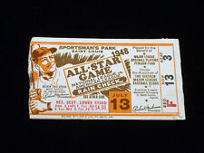 1948 ALL STAR GAME BASEBALL TICKET @ ST. LOUIS BROWNS STAN MUSIAL CARDINALS