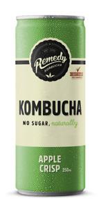 Remedy Kombucha Apple Crisp 250ml (Pack of 12)