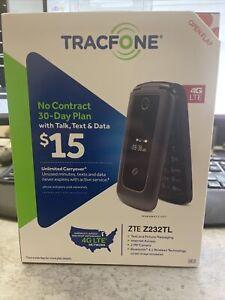 TRACFONE ZTE Z232TL PREPAID FLIP PHONE 4G LTE BRAND NEW IN BOX