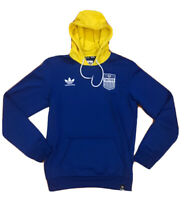 Mens Adidas Tactics Skateboarding Hoodie Size Small Blue Yellow White Polyester