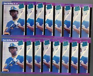 (16) 1989 Donruss Baseball #33 Ken Griffey Jr. Rookie Card Lot RC - Rated Rookie