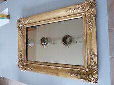Très ancien Miroir LOUIS XVI en bois doré  décoré probable fin du XVIIIème