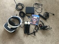 PSVR Sony PlayStation VR Headset Camera Bundle including 2 x Move Controllers